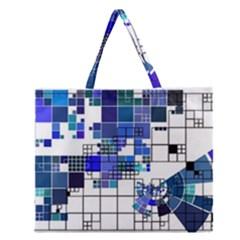Design Zipper Large Tote Bag
