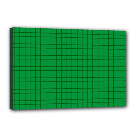 Pattern Green Background Lines Canvas 18  x 12