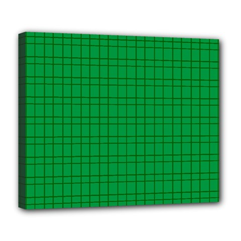 Pattern Green Background Lines Deluxe Canvas 24  x 20
