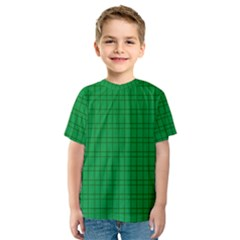 Pattern Green Background Lines Kids  Sport Mesh Tee