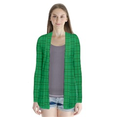 Pattern Green Background Lines Cardigans