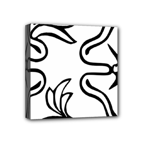 Decoration Pattern Design Flower Mini Canvas 4  x 4