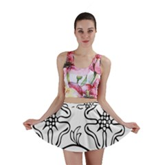 Decoration Pattern Design Flower Mini Skirt