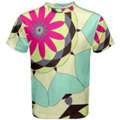 Pink Flower Men s Cotton Tee