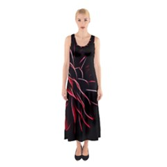 Pattern Design Abstract Background Sleeveless Maxi Dress