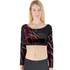 Pattern Design Abstract Background Long Sleeve Crop Top