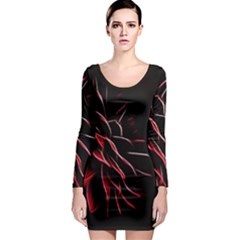 Pattern Design Abstract Background Long Sleeve Bodycon Dress