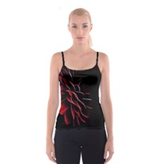 Pattern Design Abstract Background Spaghetti Strap Top