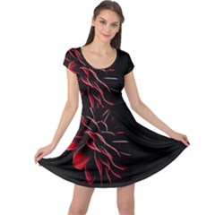 Pattern Design Abstract Background Cap Sleeve Dresses