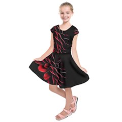 Pattern Design Abstract Background Kids  Short Sleeve Dress