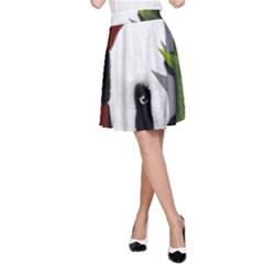 Panda A-Line Skirt