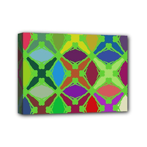 Abstract Pattern Background Design Mini Canvas 7  x 5