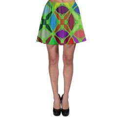 Abstract Pattern Background Design Skater Skirt