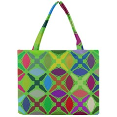 Abstract Pattern Background Design Mini Tote Bag
