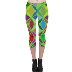 Abstract Pattern Background Design Capri Leggings