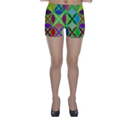 Abstract Pattern Background Design Skinny Shorts