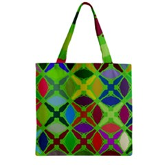 Abstract Pattern Background Design Zipper Grocery Tote Bag