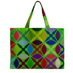 Abstract Pattern Background Design Zipper Mini Tote Bag