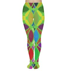 Abstract Pattern Background Design Women s Tights