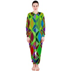 Abstract Pattern Background Design Onepiece Jumpsuit (ladies)