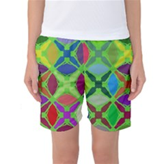 Abstract Pattern Background Design Women s Basketball Shorts