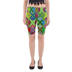 Abstract Pattern Background Design Yoga Cropped Leggings