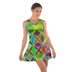Abstract Pattern Background Design Cotton Racerback Dress