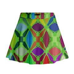 Abstract Pattern Background Design Mini Flare Skirt