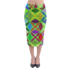 Abstract Pattern Background Design Midi Pencil Skirt