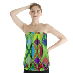 Abstract Pattern Background Design Strapless Top
