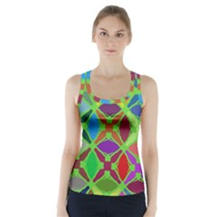 Abstract Pattern Background Design Racer Back Sports Top