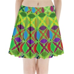 Abstract Pattern Background Design Pleated Mini Skirt
