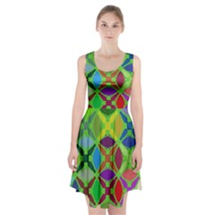 Abstract Pattern Background Design Racerback Midi Dress
