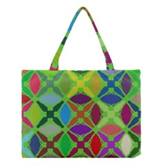 Abstract Pattern Background Design Medium Tote Bag