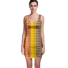 Abstract Pattern Background Sleeveless Bodycon Dress