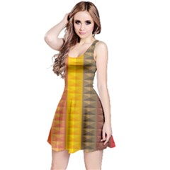 Abstract Pattern Background Reversible Sleeveless Dress