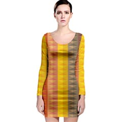 Abstract Pattern Background Long Sleeve Bodycon Dress