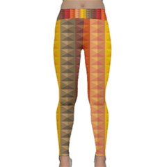 Abstract Pattern Background Classic Yoga Leggings