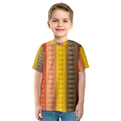Abstract Pattern Background Kids  Sport Mesh Tee