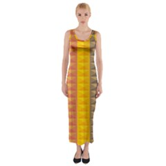 Abstract Pattern Background Fitted Maxi Dress
