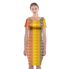 Abstract Pattern Background Classic Short Sleeve Midi Dress