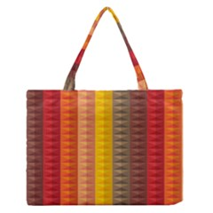Abstract Pattern Background Medium Zipper Tote Bag