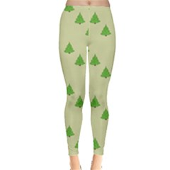 Christmas Wrapping Paper Pattern Leggings
