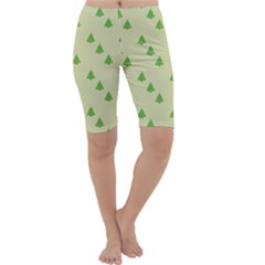 Christmas Wrapping Paper Pattern Cropped Leggings