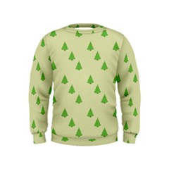 Christmas Wrapping Paper Pattern Kids  Sweatshirt