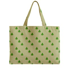 Christmas Wrapping Paper Pattern Zipper Mini Tote Bag
