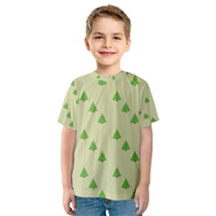 Christmas Wrapping Paper Pattern Kids  Sport Mesh Tee