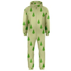 Christmas Wrapping Paper Pattern Hooded Jumpsuit (men)