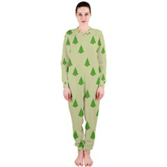 Christmas Wrapping Paper Pattern Onepiece Jumpsuit (ladies)