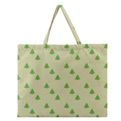 Christmas Wrapping Paper Pattern Zipper Large Tote Bag